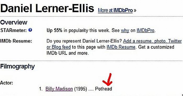 Funny IMDB Profiles (20 pics)