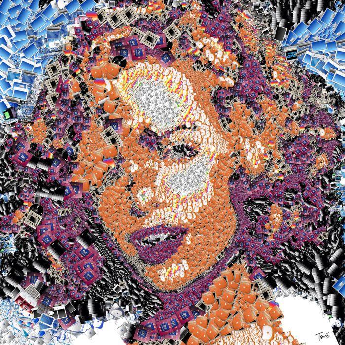 Mosaic Portraits (65 pics)