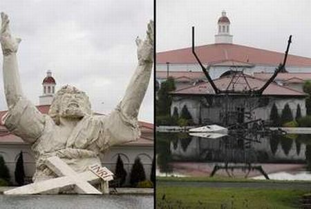 King of Kings Statue of Jesus Destroyed by Lightning(22 pics)