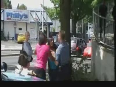 Seattle Police Officer Punching Woman During Jaywalking Stop