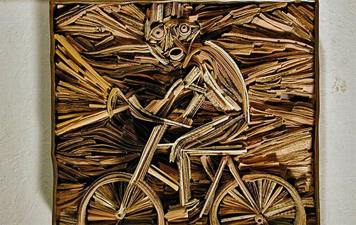 Newspaper Sculptures by Nick Georgiou (32 pics)