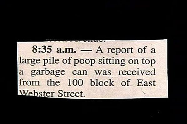 The Funniest Police Blotters (30 pics)