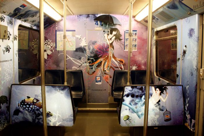 Beautiful Subway Art (9 pics)