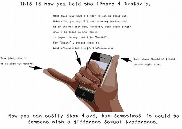The Idiots Guide to Holding the iPhone 4 (8 pics)