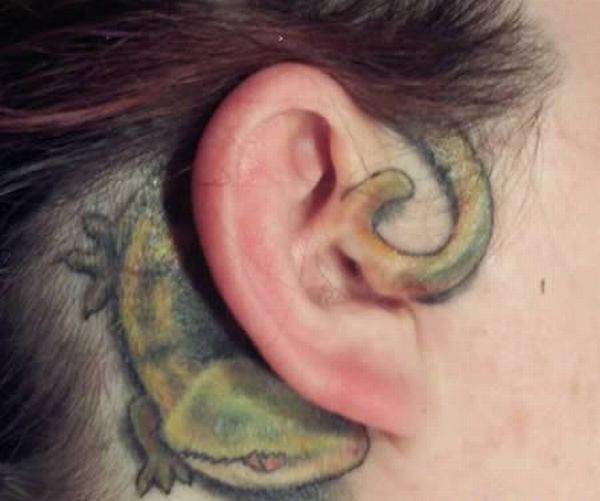 The Craziest Ear Tattoos (13 pics)