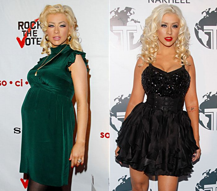 Hollywood Moms Before and After Baby