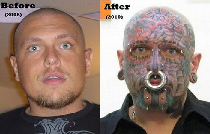 Transformation of a Piercing Addict (11 pics)