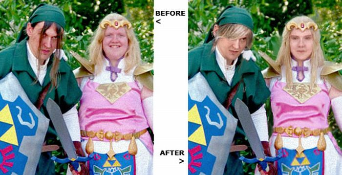 Cosplay Girls Before And After Photoshop (31 pics)