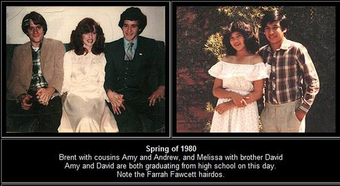 Brent and Melissa. From Childhood to Marriage (44 pics)