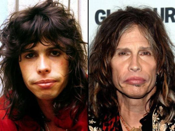 fotos de la muerte de valentin elizalde_13. steven tyler then and now.