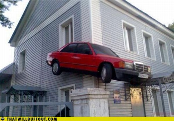 Vehicles in Funny and Strange Situations (75 pics)