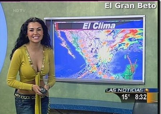 Sexy Weather Girls (76 pics)