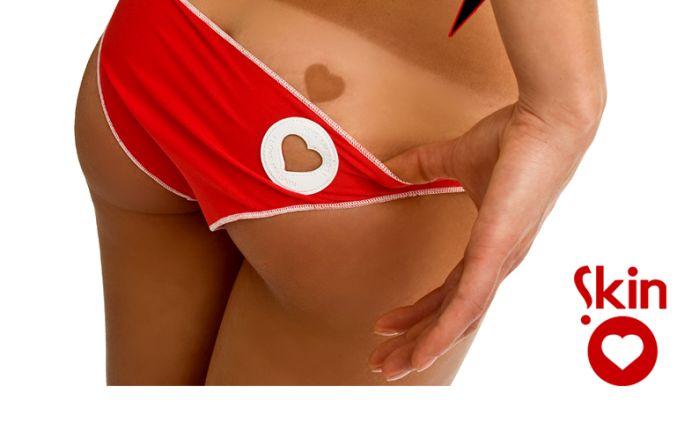 Heart Tan Bikini (6 pics)