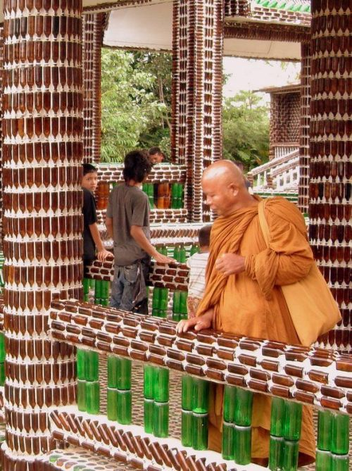 Temple Built Out Of Beer Bottles (21 pics)