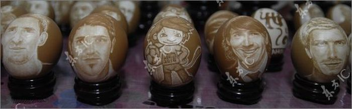 World Cup Egg Carving (13 pics)