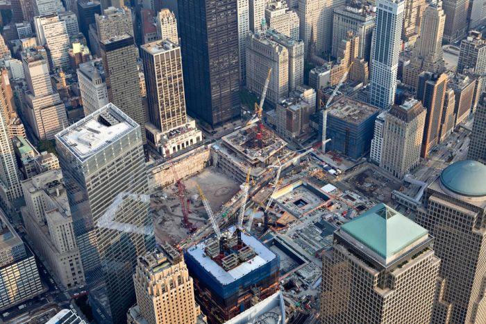 New york city from above for Interieur world trade center