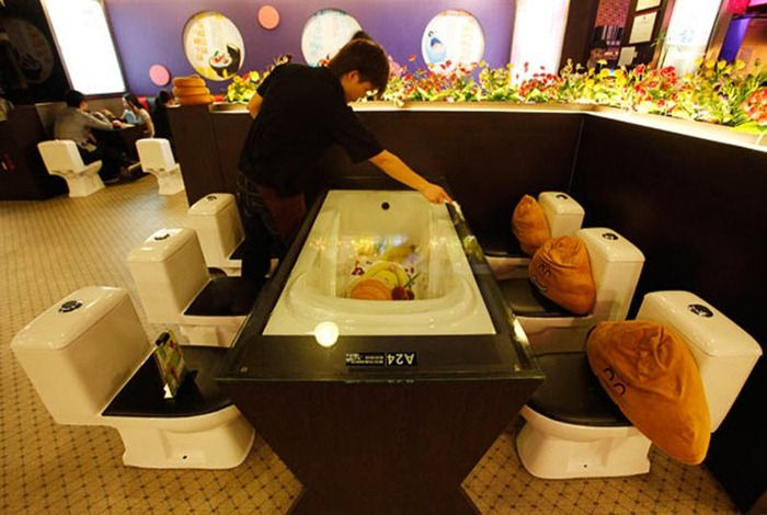 New Toilet  Restaurant Opened in China (10 pics)