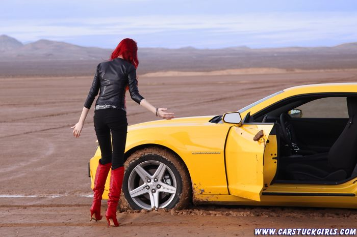 Car Stuck Girls. Part 2 (65 pics)