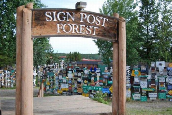 Sign Post Forrest of Watson Lake, Alaska (10 pics)