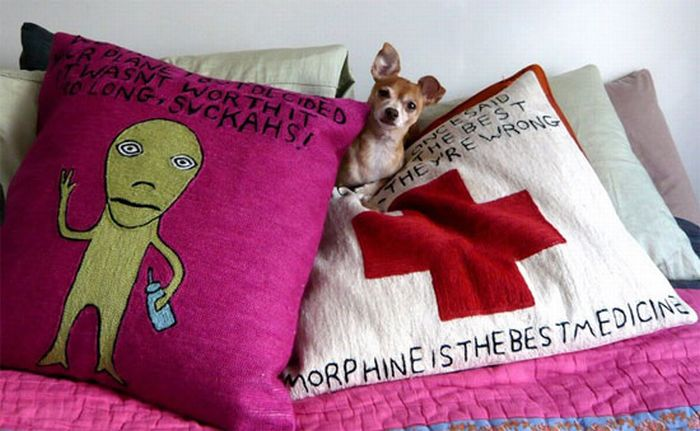 Fun Illustrations on Pillows and Rugs (11 pics)