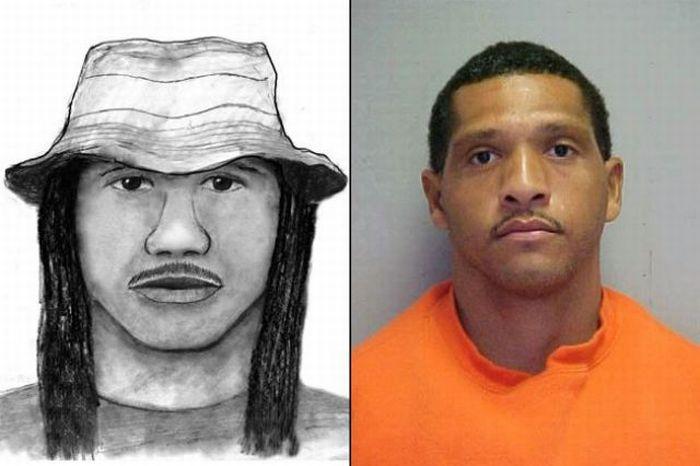 Police Sketches vs. Mugshots (15 pics)
