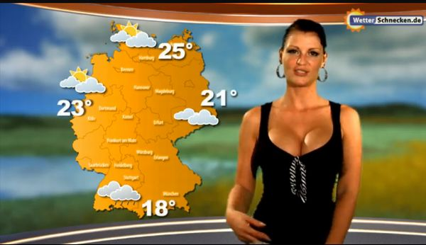 Sexy German Weather Girl