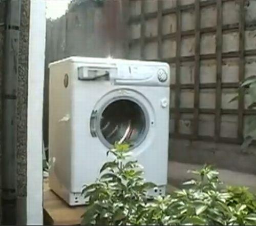 Brick in a Washing Machine