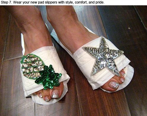 How To Make Slippers Out Of Sanitary Pads (7 pics)