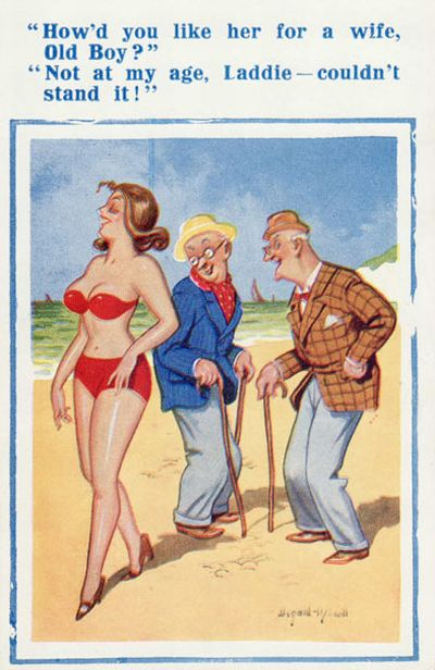Banned Saucy Seaside Postcards by Donald McGill (13 pics)