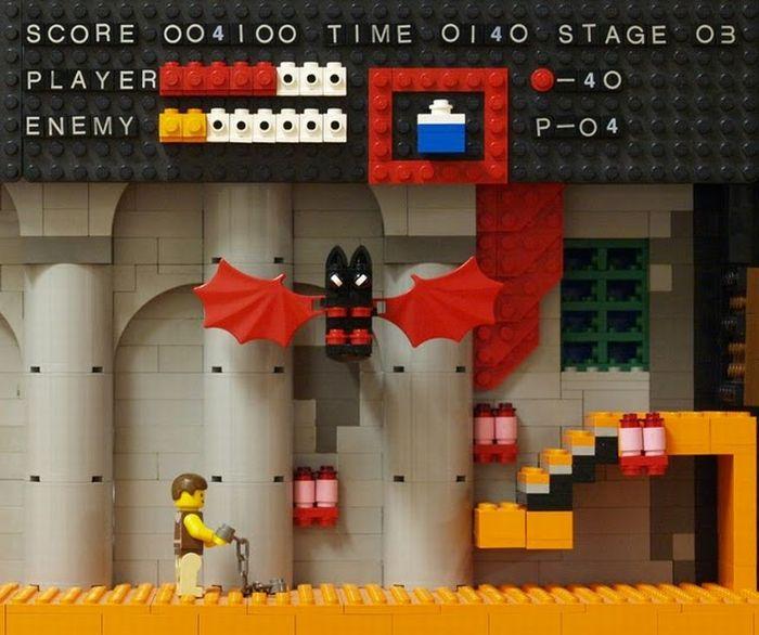Classic Video Game Scenes Recreated in LEGO (11 pics)
