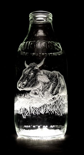 Milk Bottle Art (32 pics)
