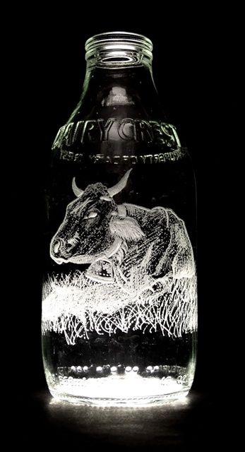 Milk Bottle Art (32 pics)
