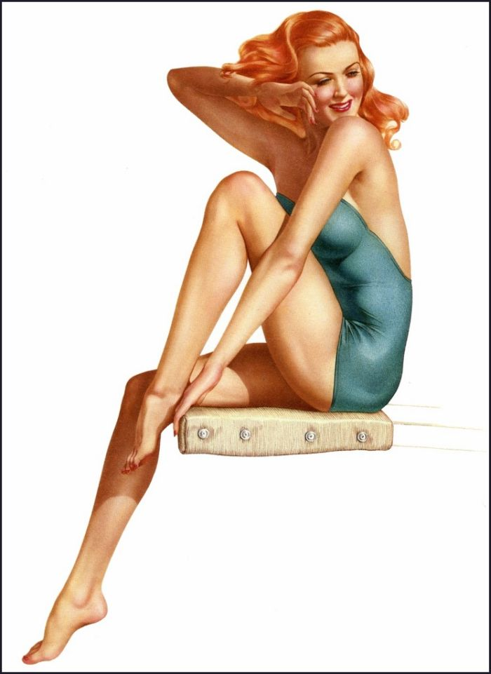 sexy pin up girls by alberto vargas. Black Bedroom Furniture Sets. Home Design Ideas