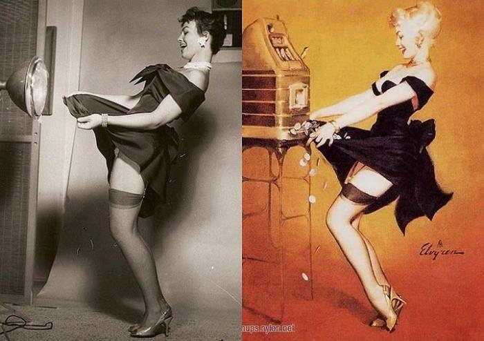 Pin-up Girls vs Real Girls (9 pics)
