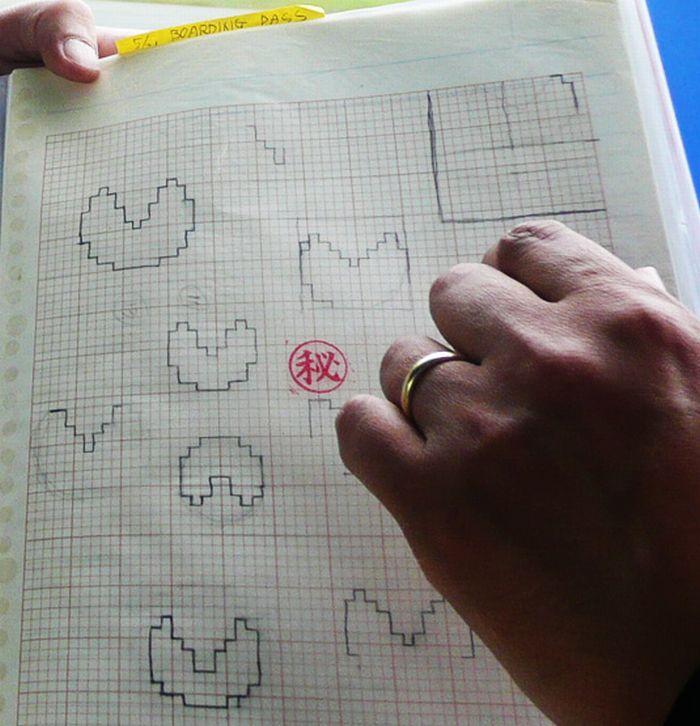 Original 1979 Pac-Man Drawings by Toru Iwatani (3 pics)
