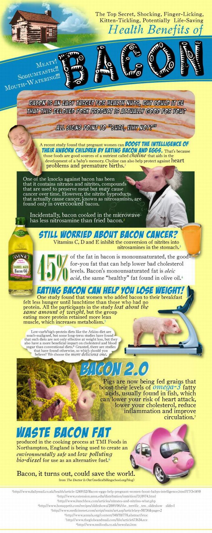 Health Benefits of Bacon (infographic)