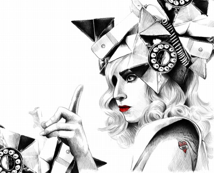 50 Lady Gaga Artworks (50 pics)