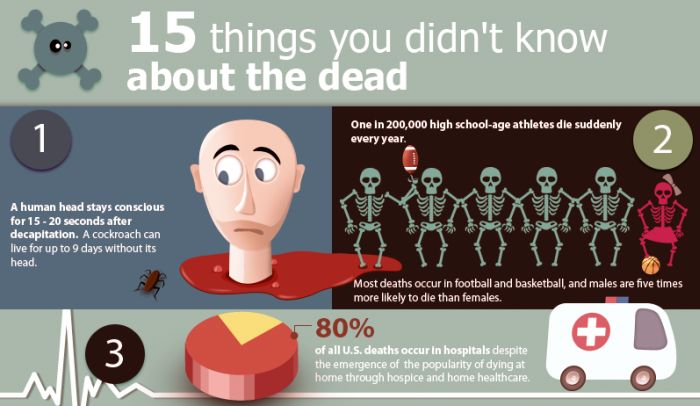 15 Things You Didn't Know About Death (infographic)