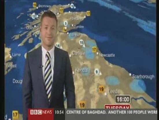 BBC Weatherman Finger Fail (video + gif)