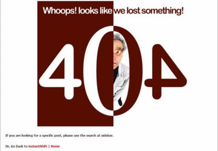 The Best of 404 Error Pages. Part 2 (32 pics)
