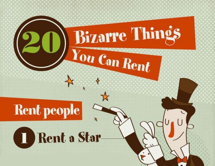 20 Bizarre Things You Can Rent (infographic)