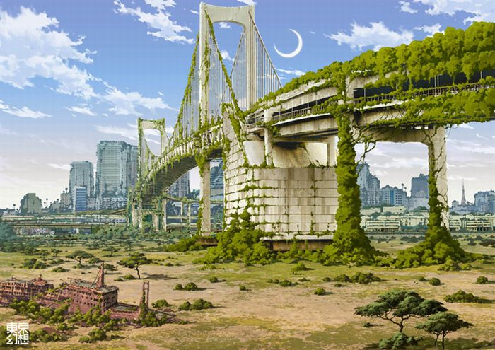 Post-Apocalyptic Pictures of Tokyo (34 pics)