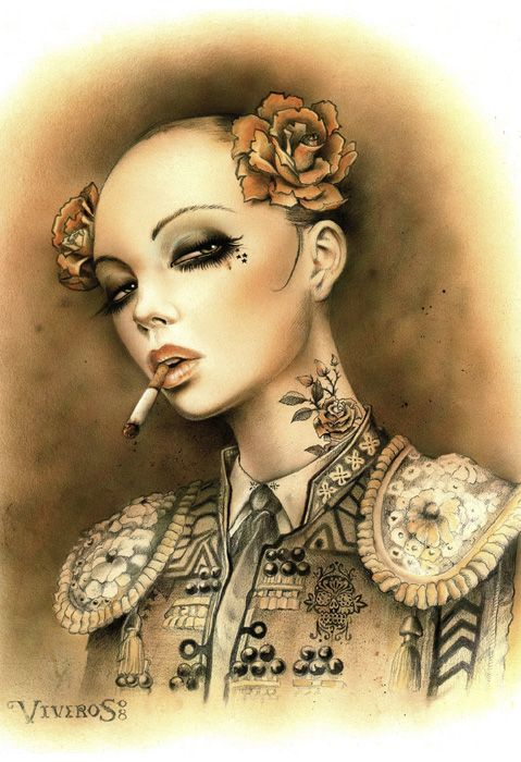 Smoking Girls by Brian M. Viveros (45 pics)
