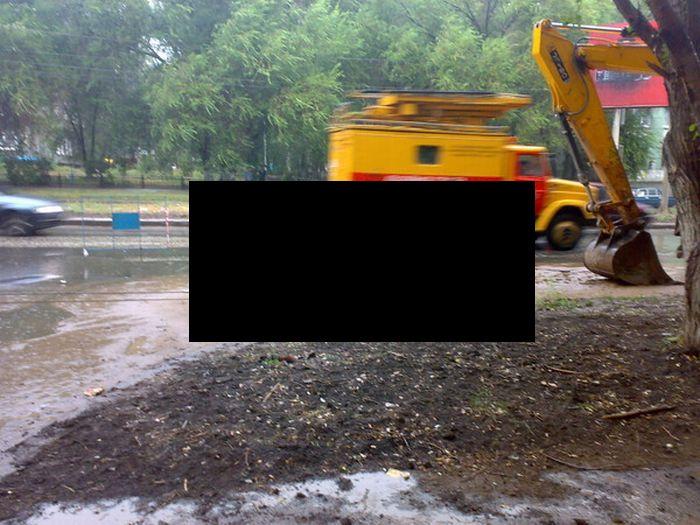 Road Collapse in Russia (6 pics)