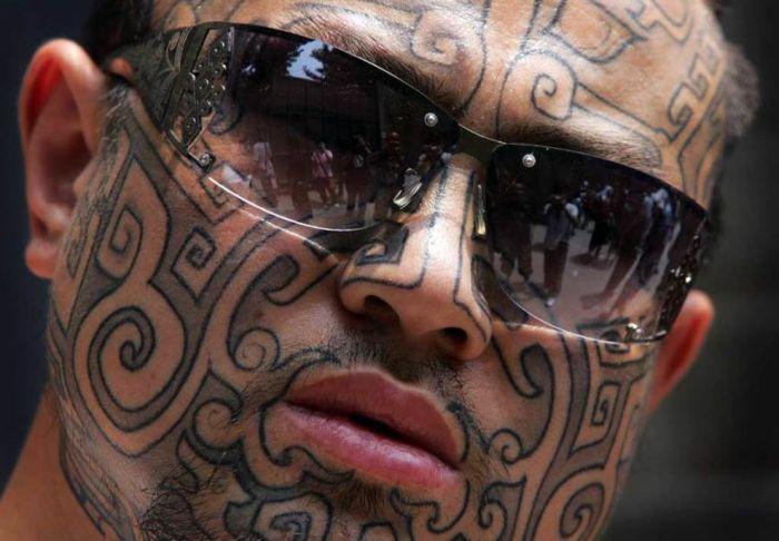Face Tattoos (14 pics)