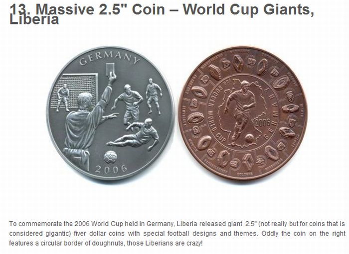 Bizarre Coins from All Around the World (25 pics)