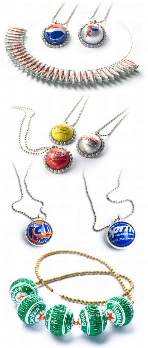 Bottle Cap Jewelry (13 pics)