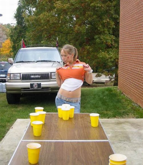 Sexy Girls Playing Beer Pong (55 pics)