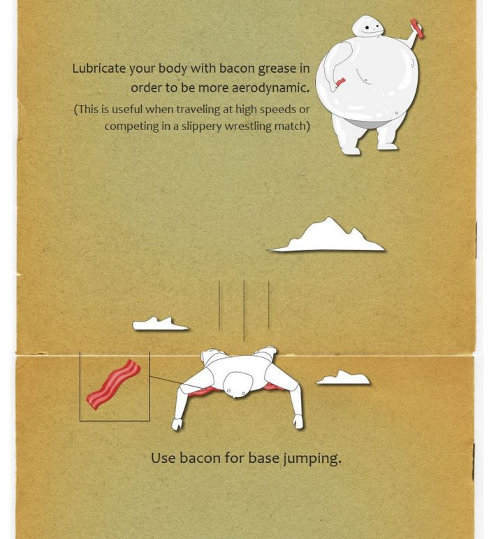 How to Use Bacon... (5 pics)