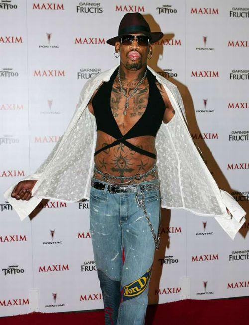 Dennis Rodman' Craziest Outfits (31 pics)